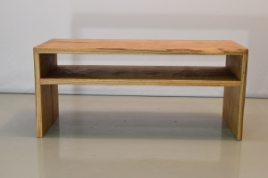 Red oak tea table